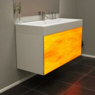 Wooden Splash illuminated bathroom cabinet