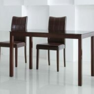 Eveleen Wooden Dining Chair with Cushion Seat & Upholstered Backrest