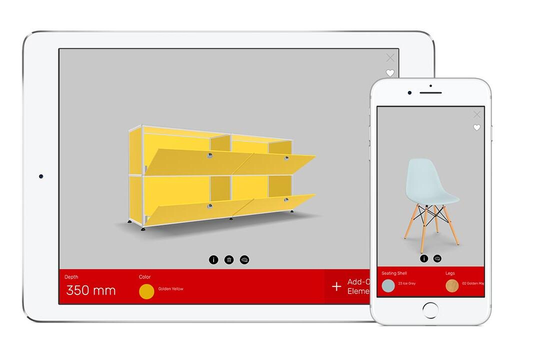 3D furniture configurators by Roomle GmbH | Shuter & Blind controls