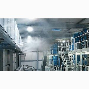 High-pressure air humidification for central ventilation systems