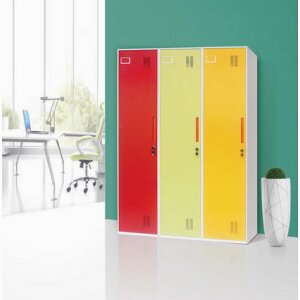 Thin edge single-door locker