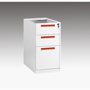 3-drawer fixed cabinet