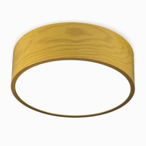 SUSPENSION LED ROUND PANEL LIGHT-TIMBER