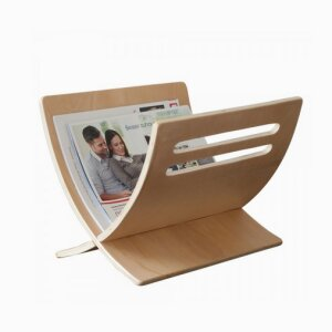Magazin Newspaper Rack magazine holder Mail Standing Storage Wooden naturel