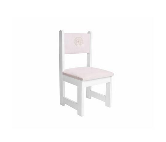 Cool Pink Upholstered Little Chair With An Emblem Golden Chic By Gmtry Best Dining Table And Chair Ideas Images Gmtryco