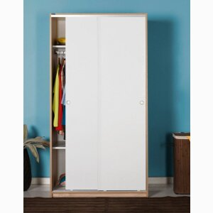 Sliding Door Wardrobe - Sonoma White