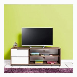 Flat Line Quadro TV Set with Drawers - Noce