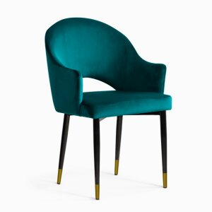 GODA Chair turquoise / black gold leg / BL85