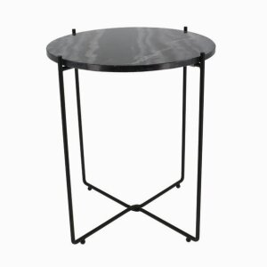 """Agneta"" Black Marble Side Table Copenhagen"