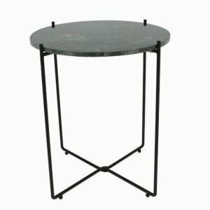 """Agneta"" green marble side table Copenhagen"