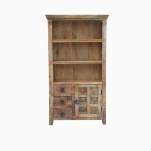 Aravali Large Bookcase with Drawer