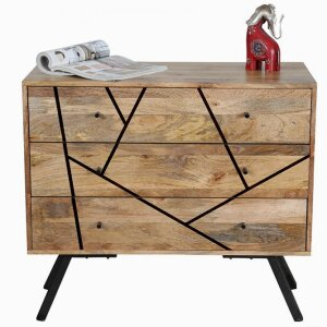 Amar 3 Drawer Chest - Iron Base