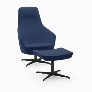 Armchair Nora/R7 High with pouf Prestige/R8