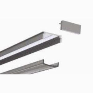 End cap for LED surface profile
