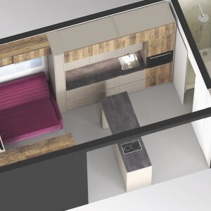 Hettich's concept for a mini-apartment
