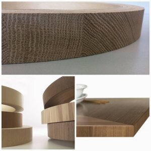 End-Grain- and Cross-Grain Veneer Edgebanding