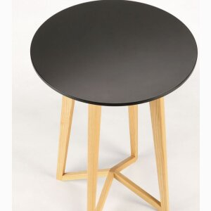 LONGLEG SIDE TABLE – ash wood, black top