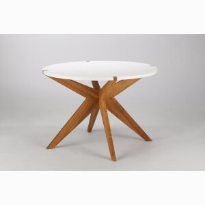 X MESITA TEA TABLE – oak wood, white top