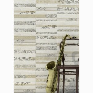 BOLENA 6,5X40 - wall tiles white body ceramic heritage effect