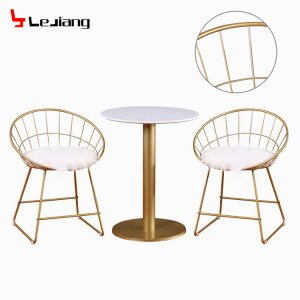 Metal Mesh Outdoor Gold Wire Chair