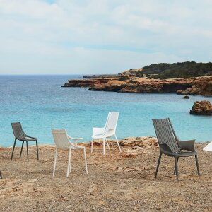 Recycled plastics from the ocean: Ibiza chair series