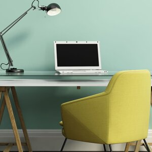 Green harmonizes and soothes: furnishing colors can be used purposefully and can also help to create an atmosphere in the home office.