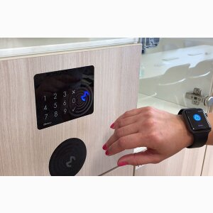 HID app for unlocking office lockers