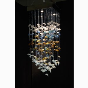 Bespoke chandelier Sea Flowers
