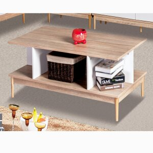 Coffee table sofa table living room table open design wood white SH47M15035-WIE