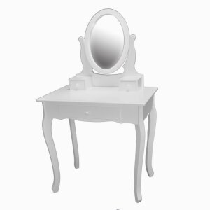 Dressing Table with Mirror 3 Drawers White STE169C-3-WH