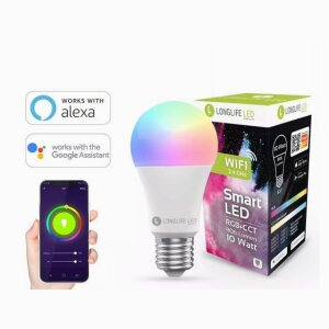 E27 10W RGB+CCT Wi-Fi Smart LED-Lamp 806 Lumen