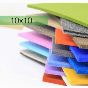 Felt coasters, square 10×10 (1/2 SU = 12 pcs.)