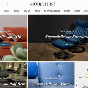 300 furniture retailers are currently connected to the MöbelFirst platform. They use the start-up as a sales channel for the Europe-wide sale of high-quality designer furniture