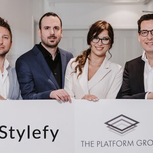 f.l.t.r. Bartosch Rolbiecki (COO), Christopher Laut (Founder, CEO), Ewelina Zych (Product Management), Dr Dominik Benner